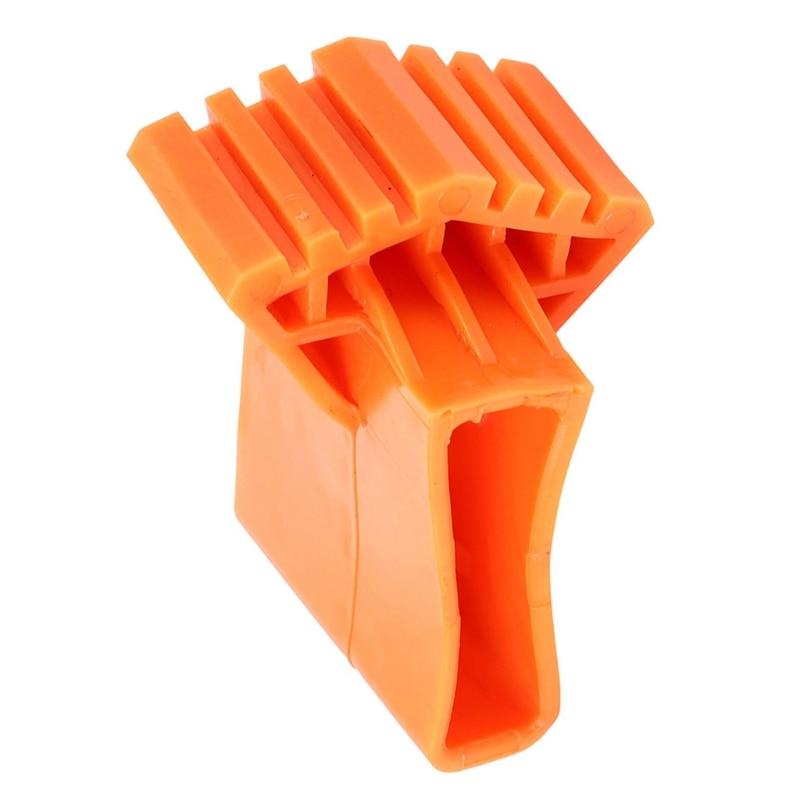 4 قطعة قدم سلم لوحات مطاطية غطاء تصغير سلم قدم منصات القدم غطاء 3.3x0.8x2.4in ل سلم قابل للتمدد