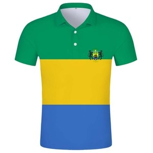 GABON POLO shirt free custom name gab POLO shirt college flag ga french country gabonese republic gabonaise print photo clothes