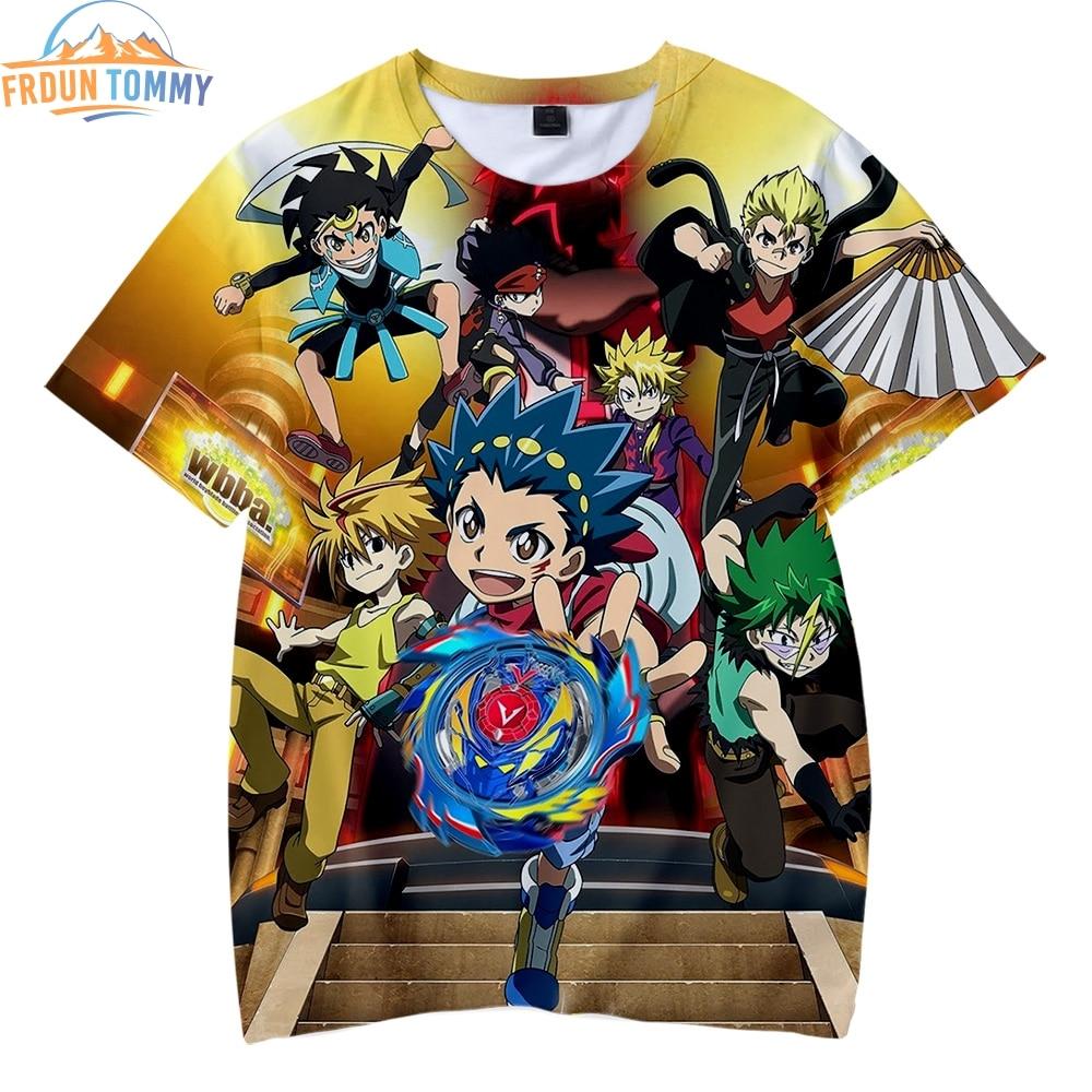Beyblade Burst Evolution 3D ropa impresión niños verano playa camisetas 2019 Venta caliente niños y niñas camisetas de manga corta