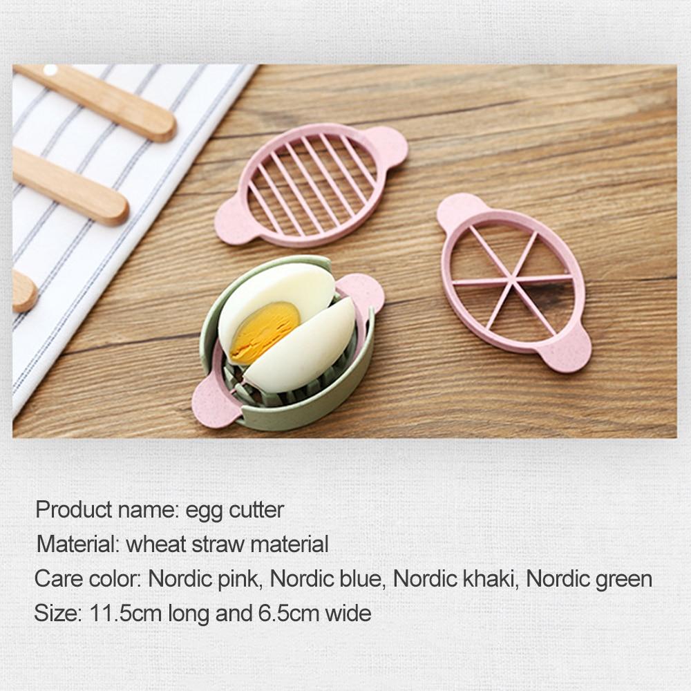 Cortador de huevos multifunción cortador de huevos herramienta de cocina multifuncional molde de paja de trigo cortador de objetos de artefacto suministros de cocina