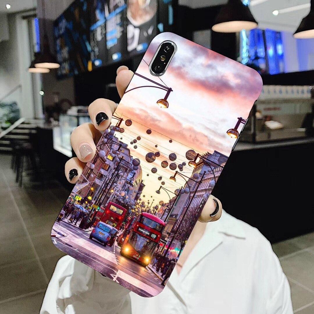 De dibujos animados de silicona teléfono caso de la ciudad de Londres París para Samsung Galaxy A3 A5 A7 A9 A8 Star Lite A6 Plus 2018, 2015, 2016, 2017