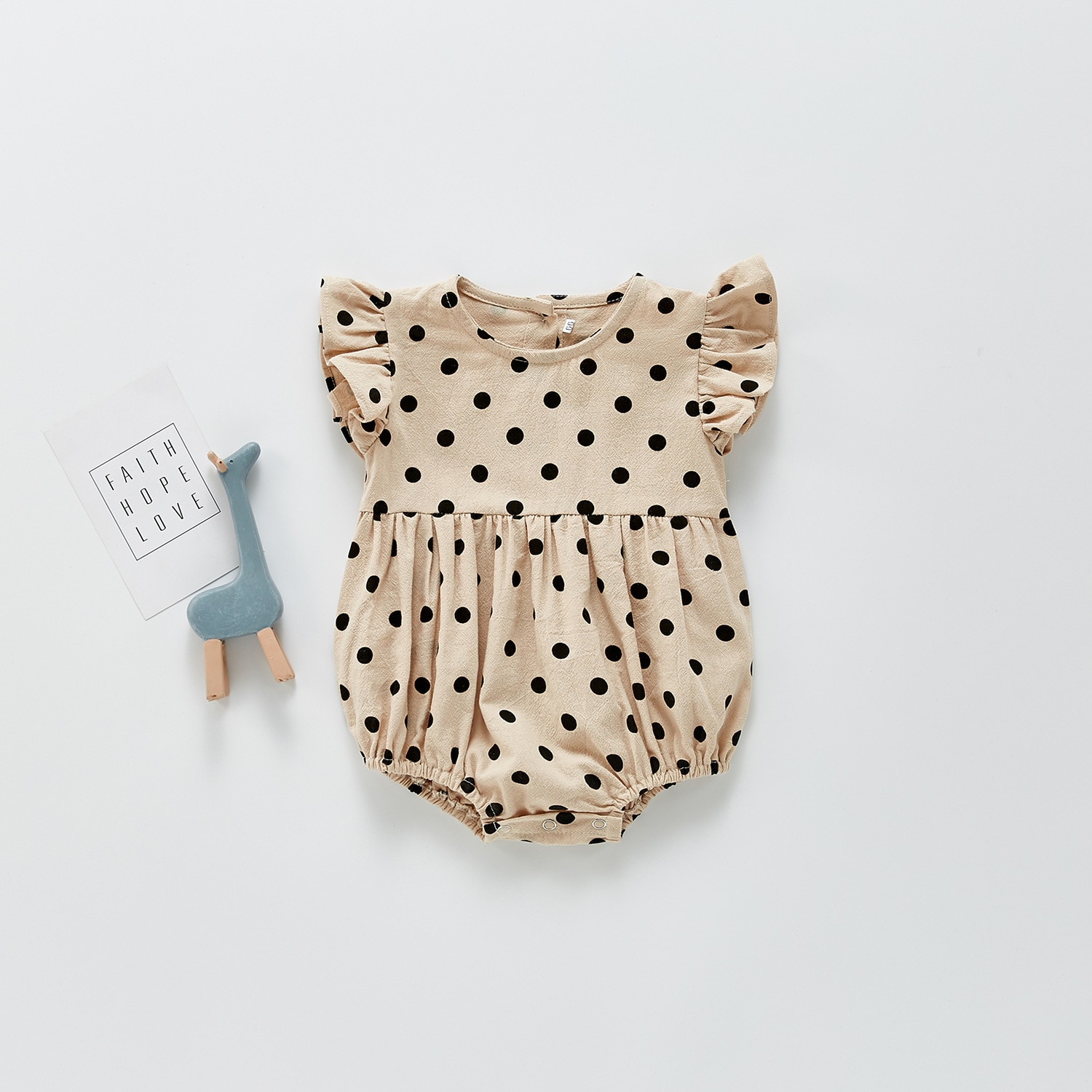 Yg Brand baby clothes 2021 summer new Korean baby wave point SHORT SLEEVE BODYSUIT triangle climbing