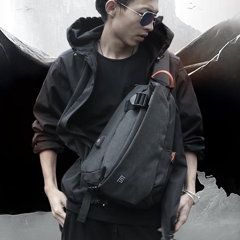 FYUZE-حقيبة كتف كاجوال متعددة الوظائف للرجال ، حقيبة كتف رياضية ، مقاومة للماء ، شحن USB ، كاجوال ، مضرب ، رحلة قصيرة ، 2020