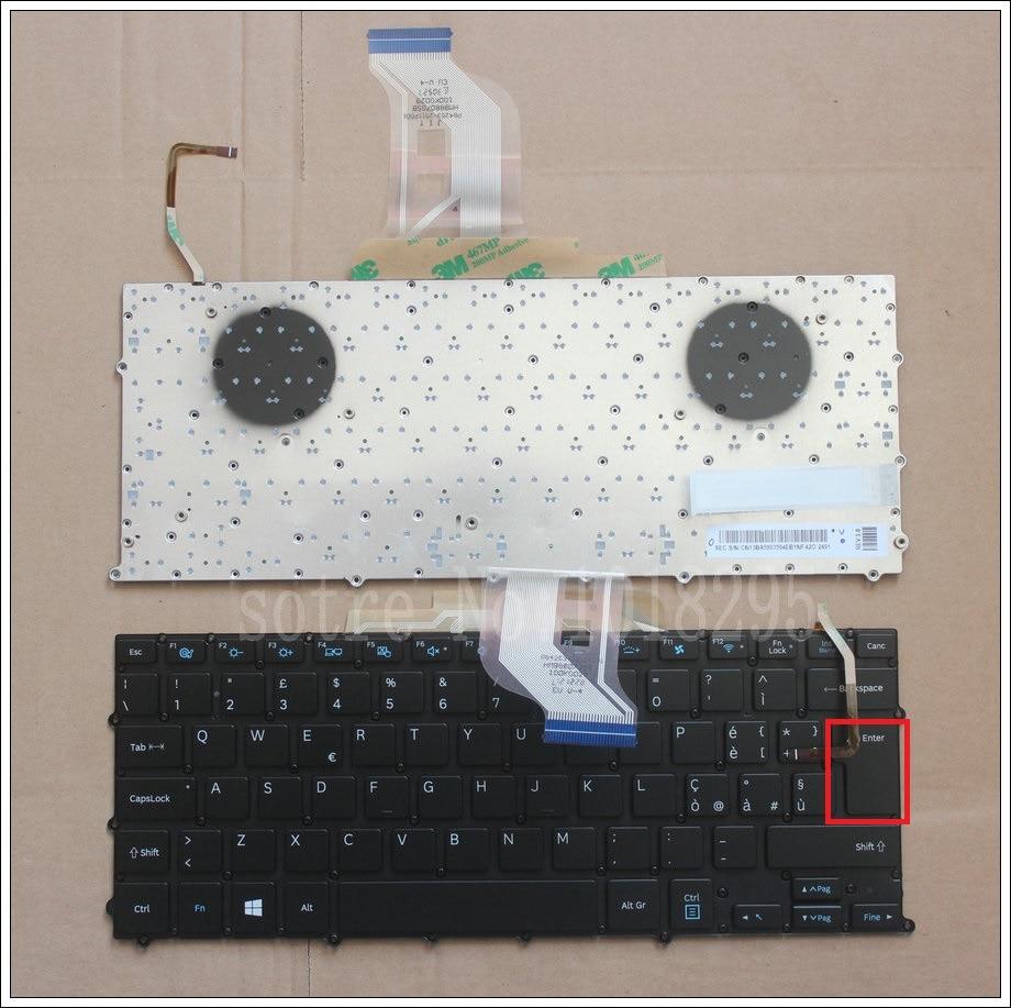 لوحة مفاتيح بإضاءة خلفية ، لجهاز Samsung NP 900x3b 900X3C 900X3D 900X3E ، جديد ، إيطاليا ، بدون إطار ، إدخال كبير