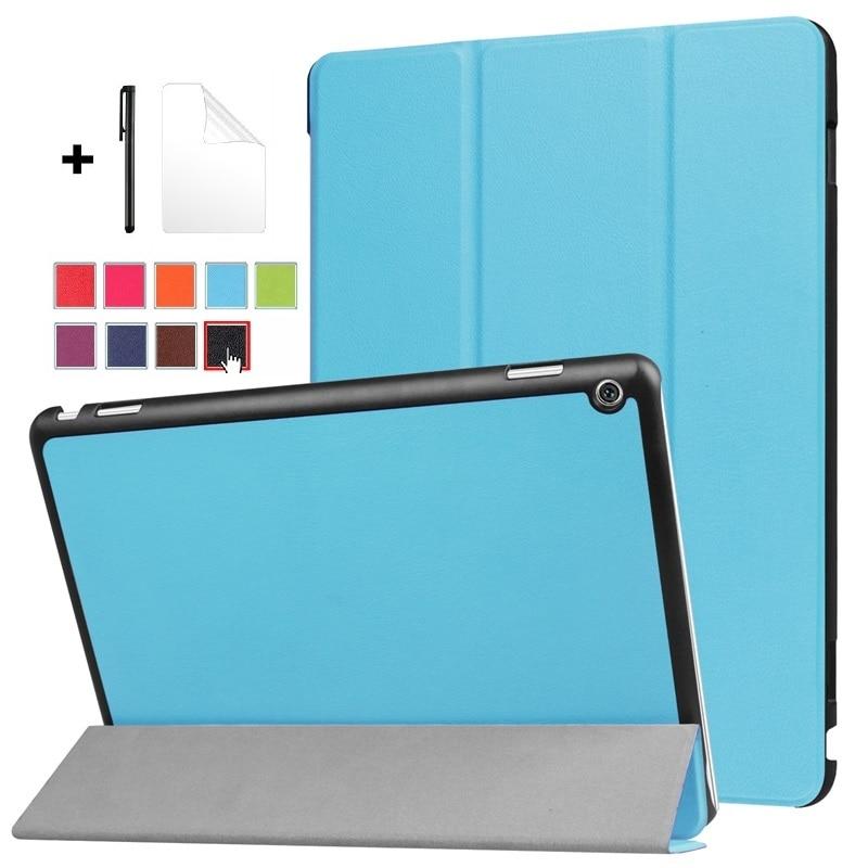 "Ultra-funda fina para Huawei MediaPad M3 Lite 10 Tablet cubierta para 10,1 ""BAH-W09 BAH-AL00 BAH-L09 10"" con cubierta de película + pen"