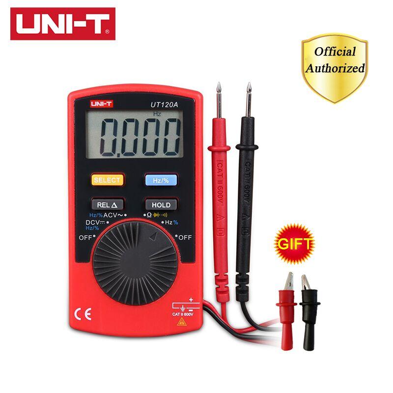 UNI-T UT120A/UT120B/UT120C Mini multímetros digitales medidores de voltaje CA/CC probadores multímetro amperímetro multímetro almacenamiento de datos