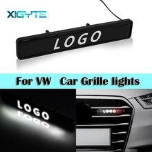 La LED dinsigne demblème de calandre de Chrome dabs allume lautocollant de Logo de voiture pour Volkswagen polo passat b5 b6 golf 4 5 6 mk6 tiguan Gol Cross Eos