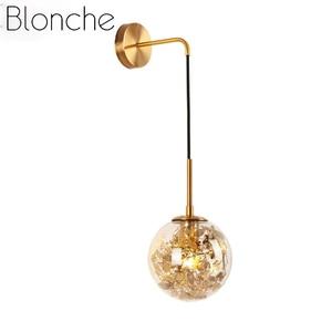 Modern 15cm/20cm Glass Ball Wall Lamp Simple Wall Lights for Living Room Kitchen Bedroom Home Decor Luminaire Fixture E27