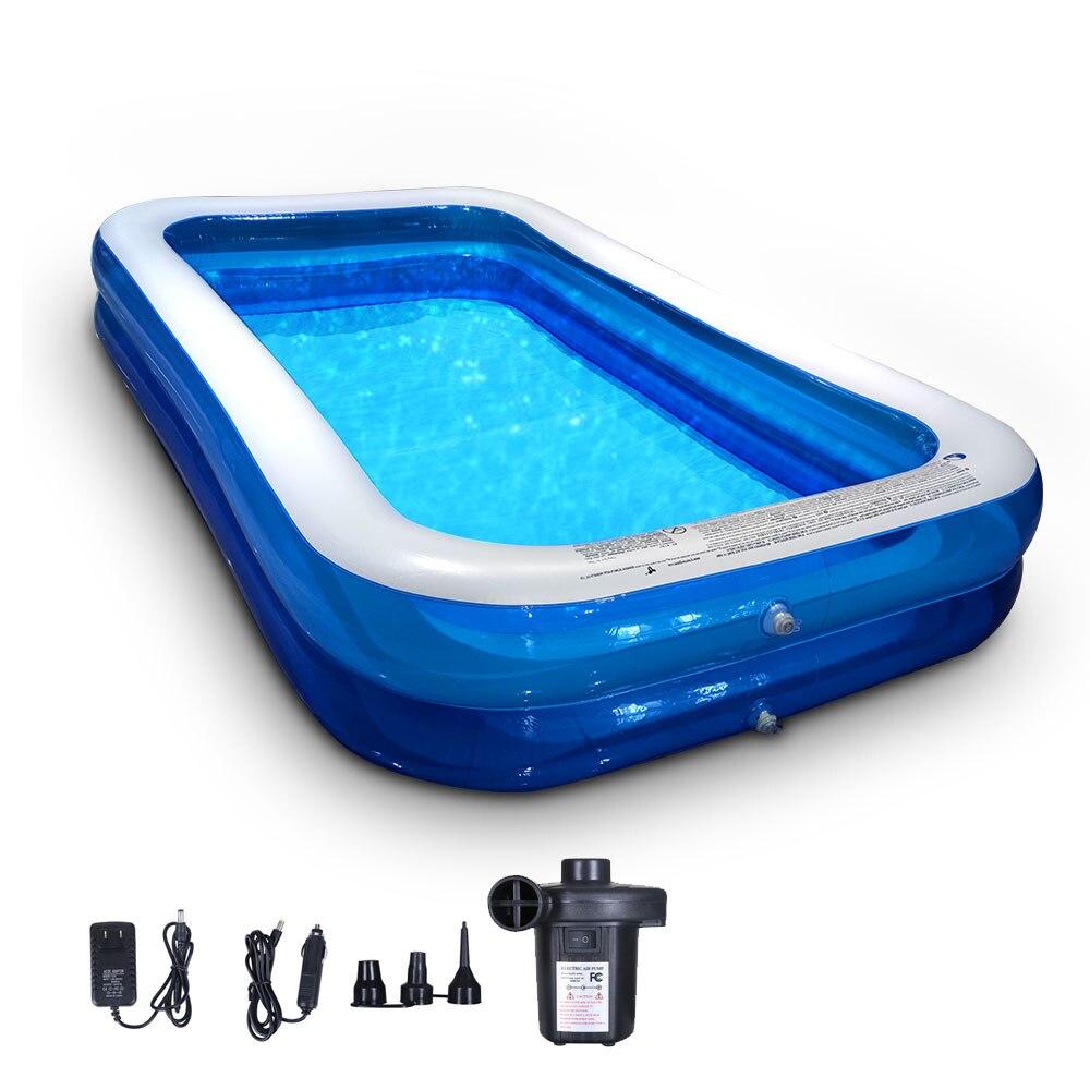 Надувной бассейн с воздушным насосом, семейный полноразмерный открытый двор, над землей, взрослый, детский, празднивечерние летний бассейн