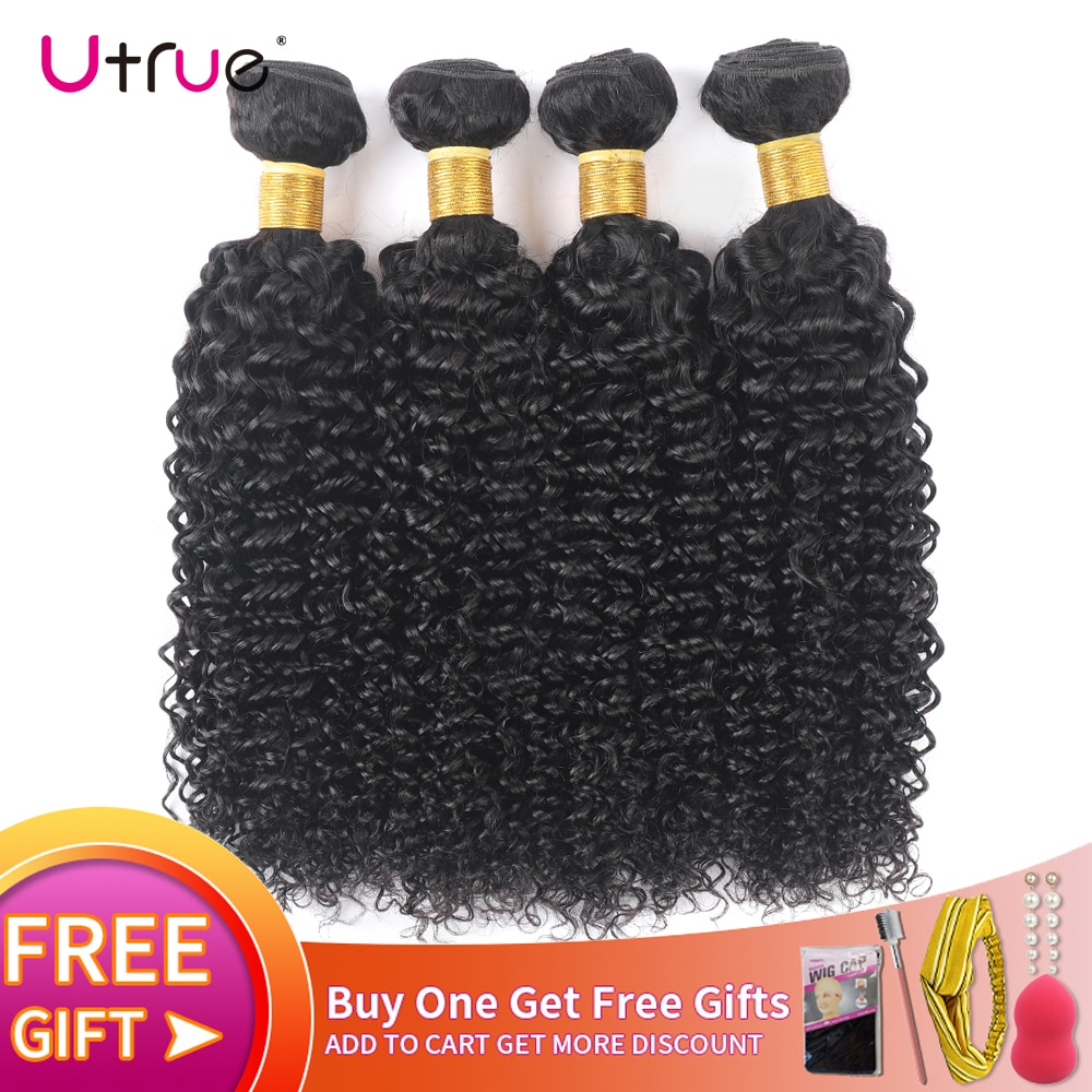 Indian Tissage Kinky Curly Human Hair Extension Natural Color 8-30 Inch Virgin Hair 100% Human Hair Curly Weave