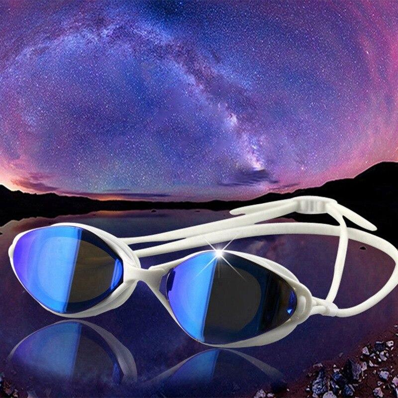 Lunettes de natation femmes hommes haute définition électroplaqué lentille étanche à la poussière Anti-buée Anti-UV lunettes lunettes pour adultes Spor