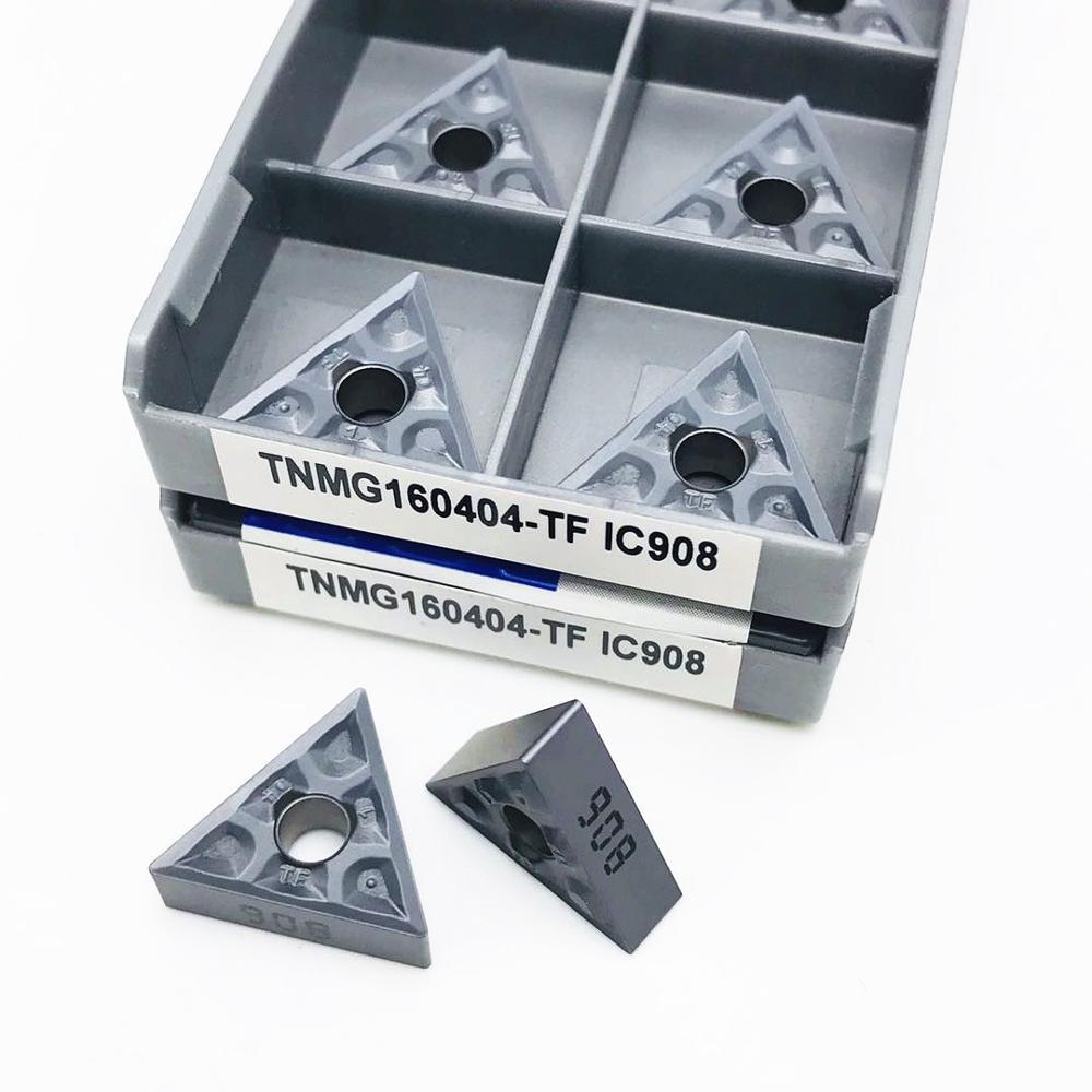 TNMG160404 TF IC907 IC908 External turning tool Carbide insert TNMG 160404 Lathe tool parts Turning insert TNMG turning tool enlarge