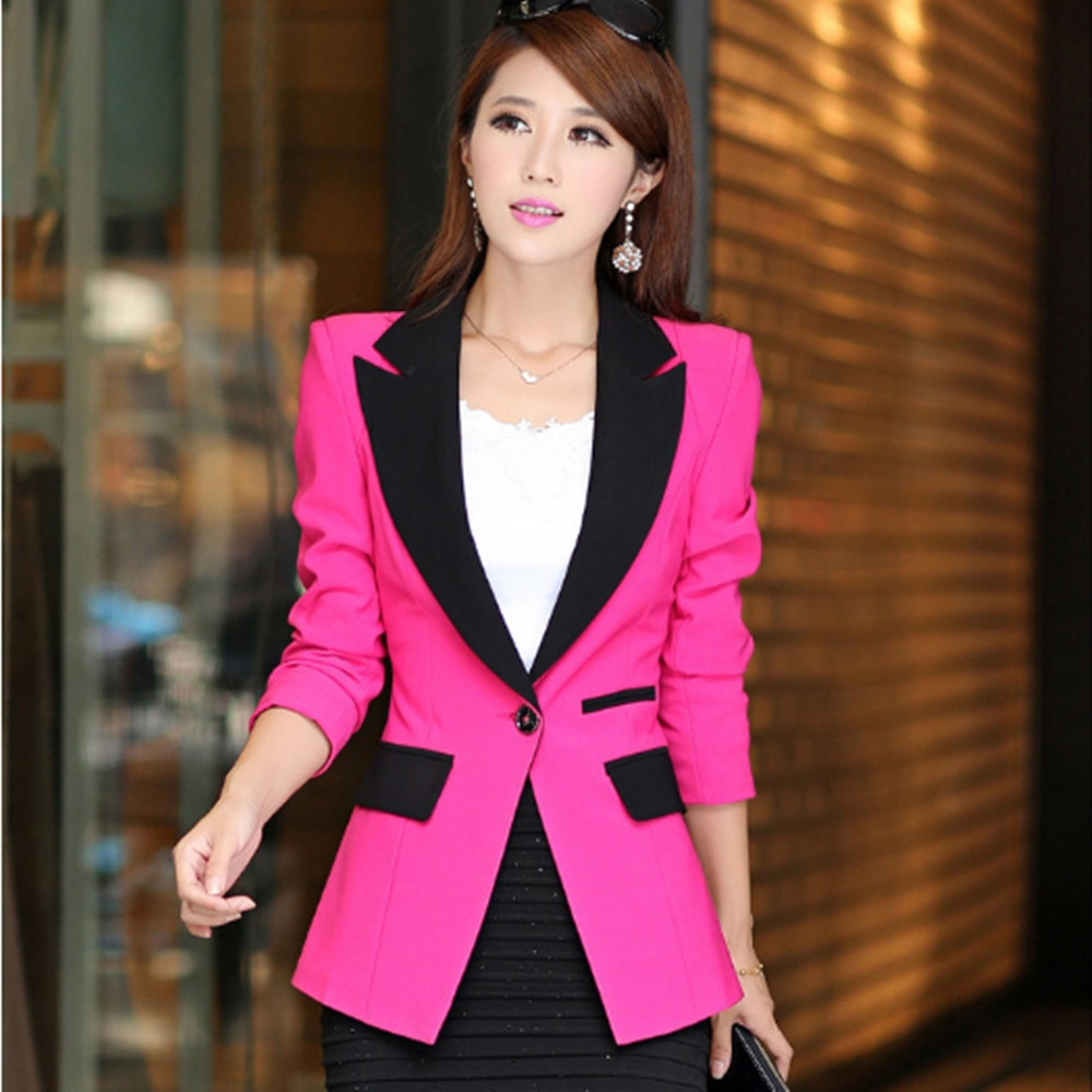 Small suit women's jacket 2021 spring and autumn Korean style slim mid-length one-button suit casual all-match long-sleeved