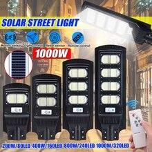 Lumière solaire polycristalline de mur réverbère détecteur de mouvement Led infrarouge 200/300/400/800W lampe extérieure de jardin déclairage lumière led