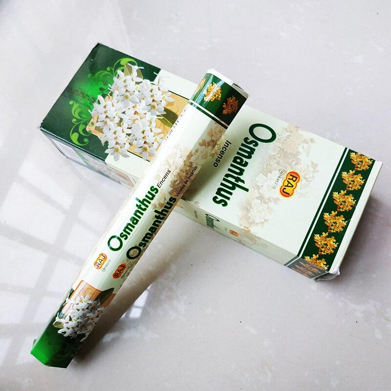 Т одна маленькая коробка османтус палка благовония бытовые Ароматические Cense ароматы Para El Hogar для благовоний с подсветкой оптом подарки