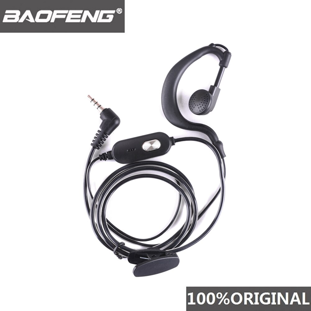 100% Original Baofeng BF-T1 Headset Microphone Two Way Radio Earphone Walkie Talkie Headphone BF-9100 PTT Woki Toki Mic Earpiece