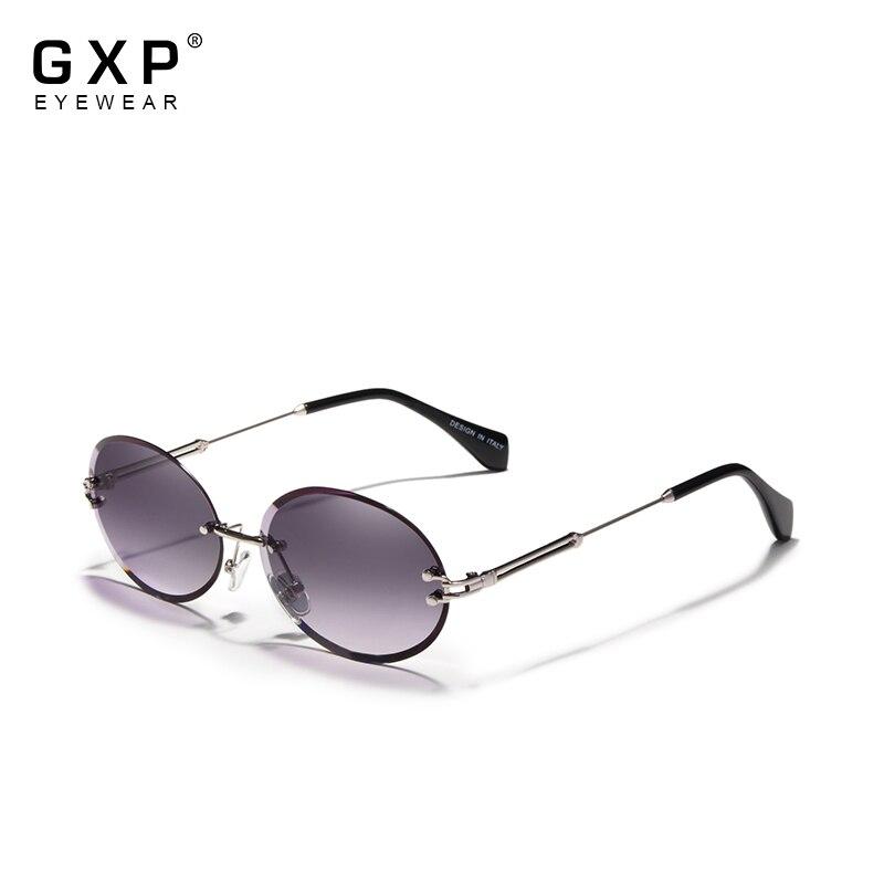GXP Fashion Oval Sun glasses Women Rimless Sunglasses Vintage Alloy Frame Classic Brand Designer Sha
