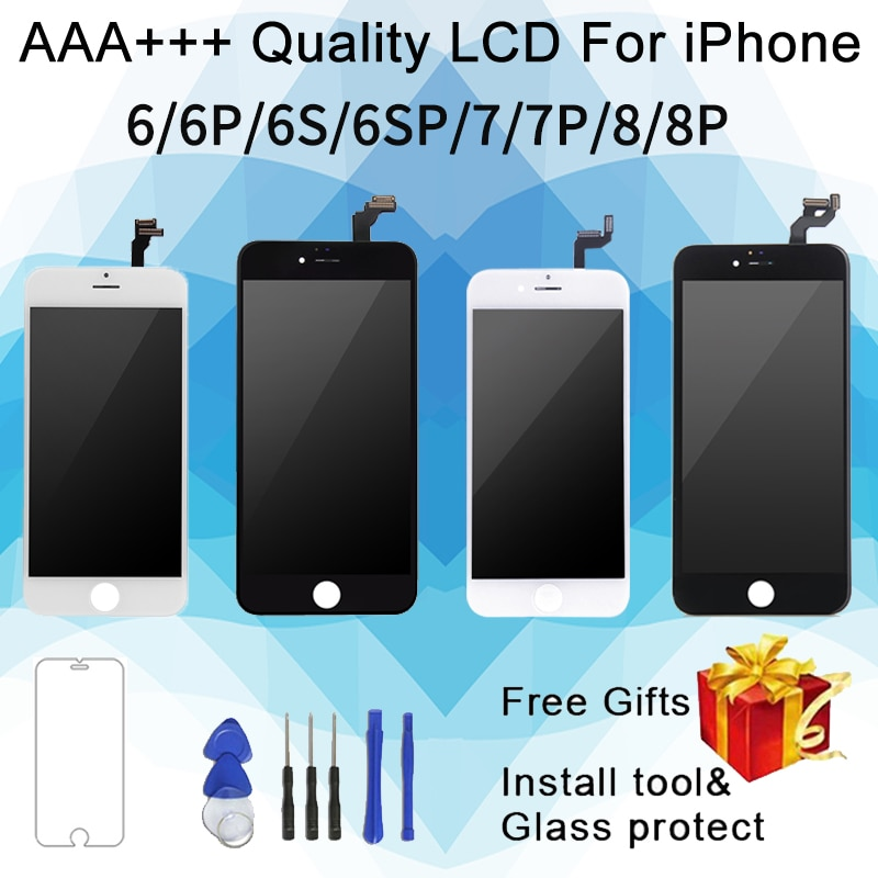 Perfect Quality For iPhone 7 LCD Screen Diaplay 100% No Dead Pixel Replacement  For iPhone 6 6S 7P 8 Plus  LCD
