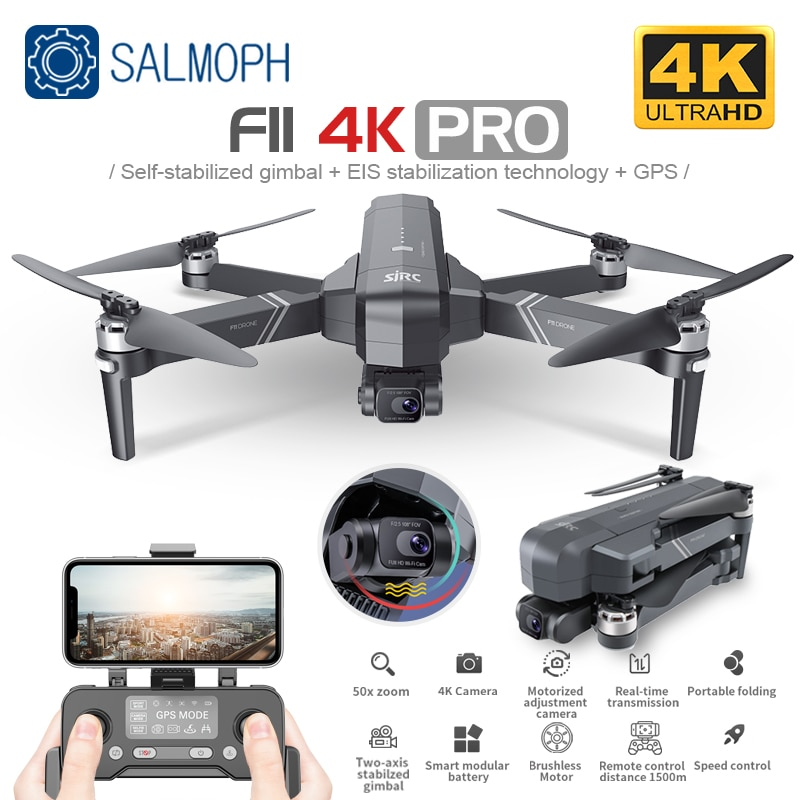 SJRC F11 PRO 4K GPS Drone With Wifi FPV 4K HD Camera Two-axis Anti-Shake Gimbal F11 Brushless Quadco