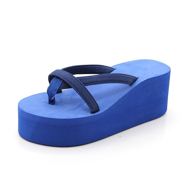 Shoes Woman Wedges Platform Slides Women Flip Flops Slippers Ladies Summer High Heels Casual Home Beach Slides Fashion