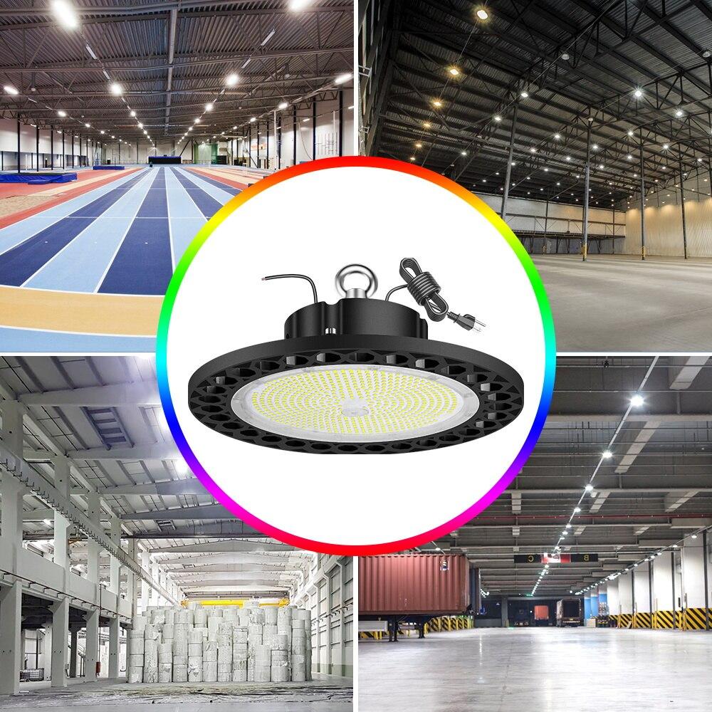 UFO Led High Bay Light Garage Lamp Industrial Lighting Waterproof Workshop Bulb 220V Warehouse Ceiling Light 100W 150W 200W 240W enlarge