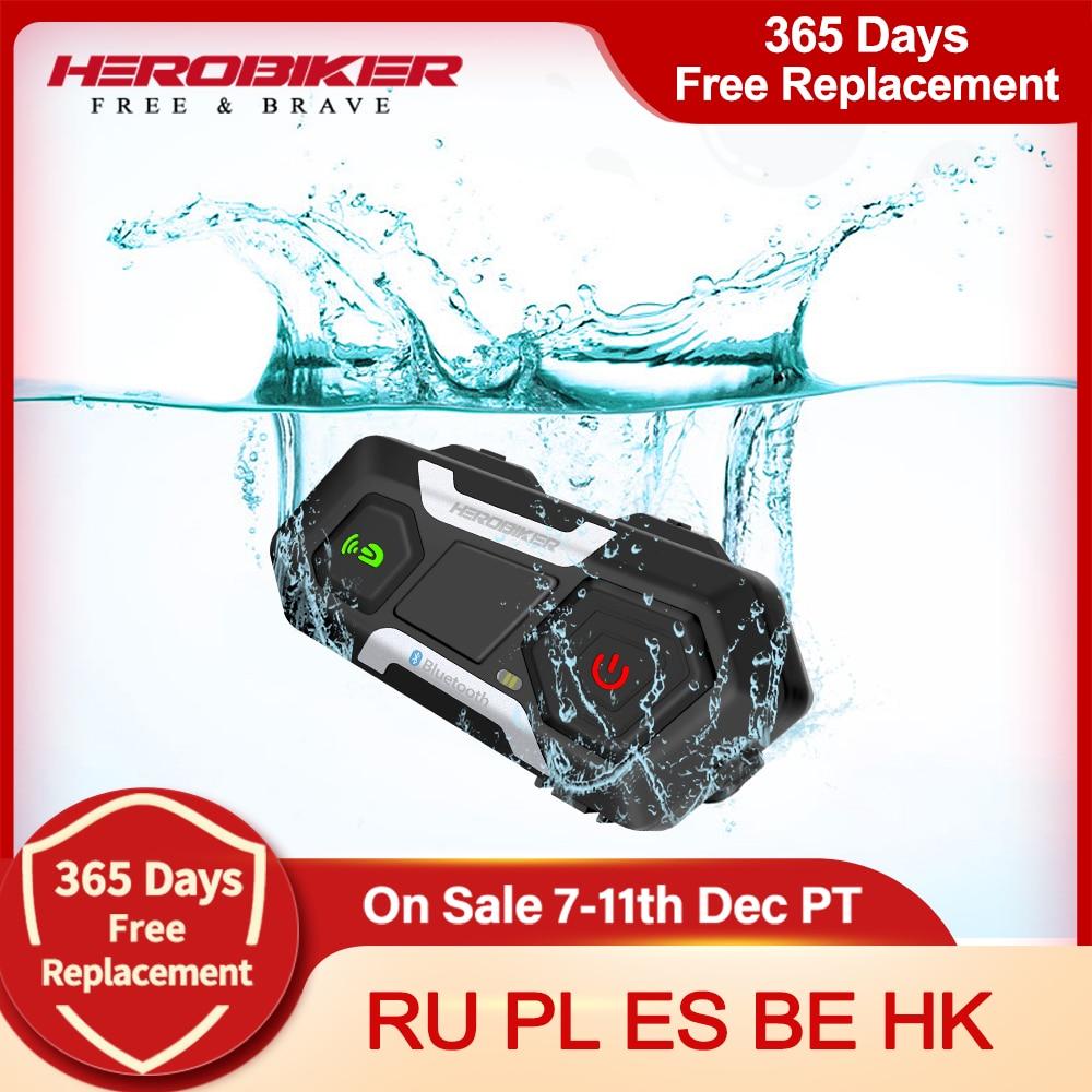 AliExpress - HEROBIKER Motorcycle Intercom Waterproof Bluetooth Helmet Headset Helmet Speaker Moto Headset Wireless Intercomunicador 1200M