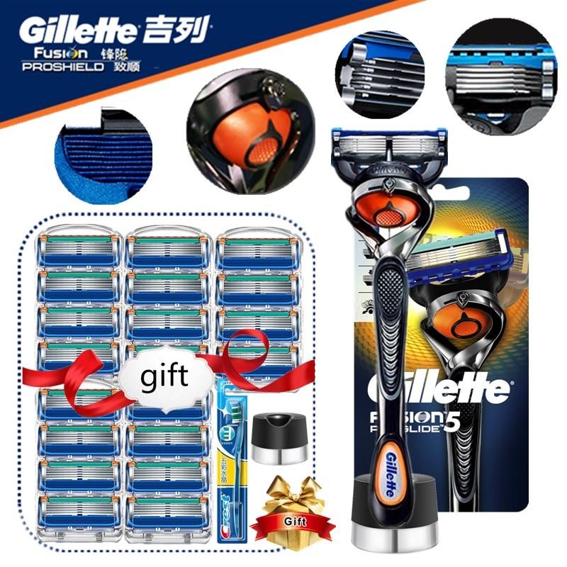 Gillette fusión Proglide Razors hoja para los hombres de para el afeitado...