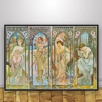 posters and prints classic artist alphonse mucha poster wall art picture canvas painting for room home decor %d0%ba%d0%b0%d1%80%d1%82%d0%b8%d0%bd%d1%8b %d0%bd%d0%b0 %d1%81%d1%82%d0%b5%d0%bd%d1%83