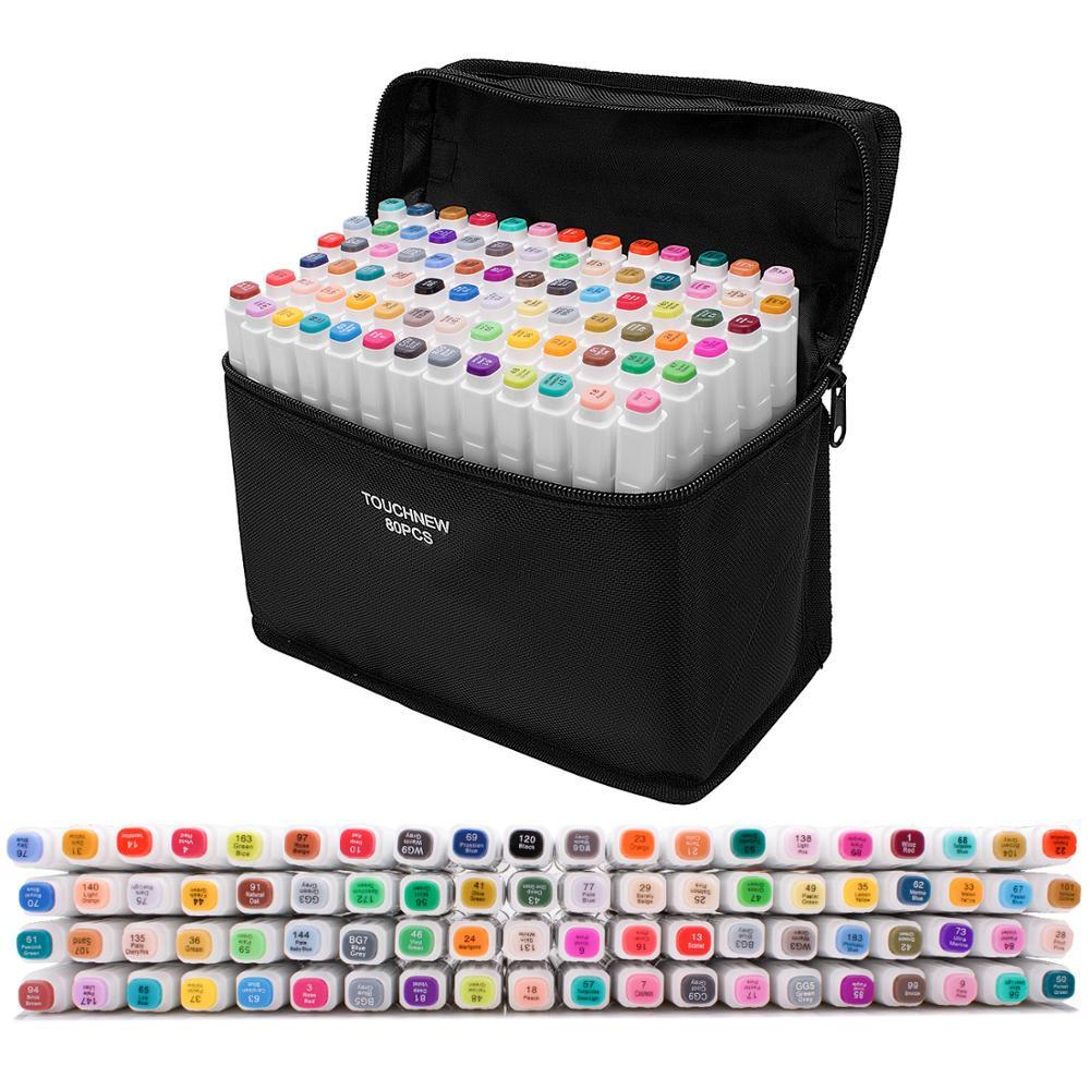 Touchfive маркеры наборы,ПРОМО-КОД AEPLUS2500 ,маркеры для рисования набор маркеров 24/30/48/60/80/168 цвета для школы товары для рукоделия
