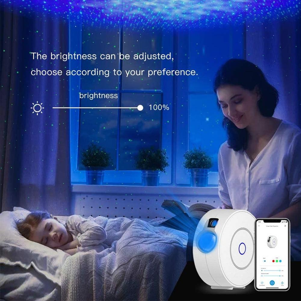 Nebula Starry Sky Star Cloud Projector Adjustable Smart Remote Control Night Lamp Gypsophila Laser Projector for Room Party enlarge