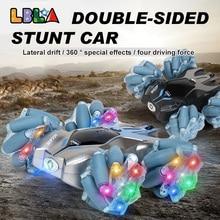 LBLA C16 RC Stunt Car 2.4Ghz 4WD 1:24 Drift with Music LED Light Remote Control Crawler 360 Degree F