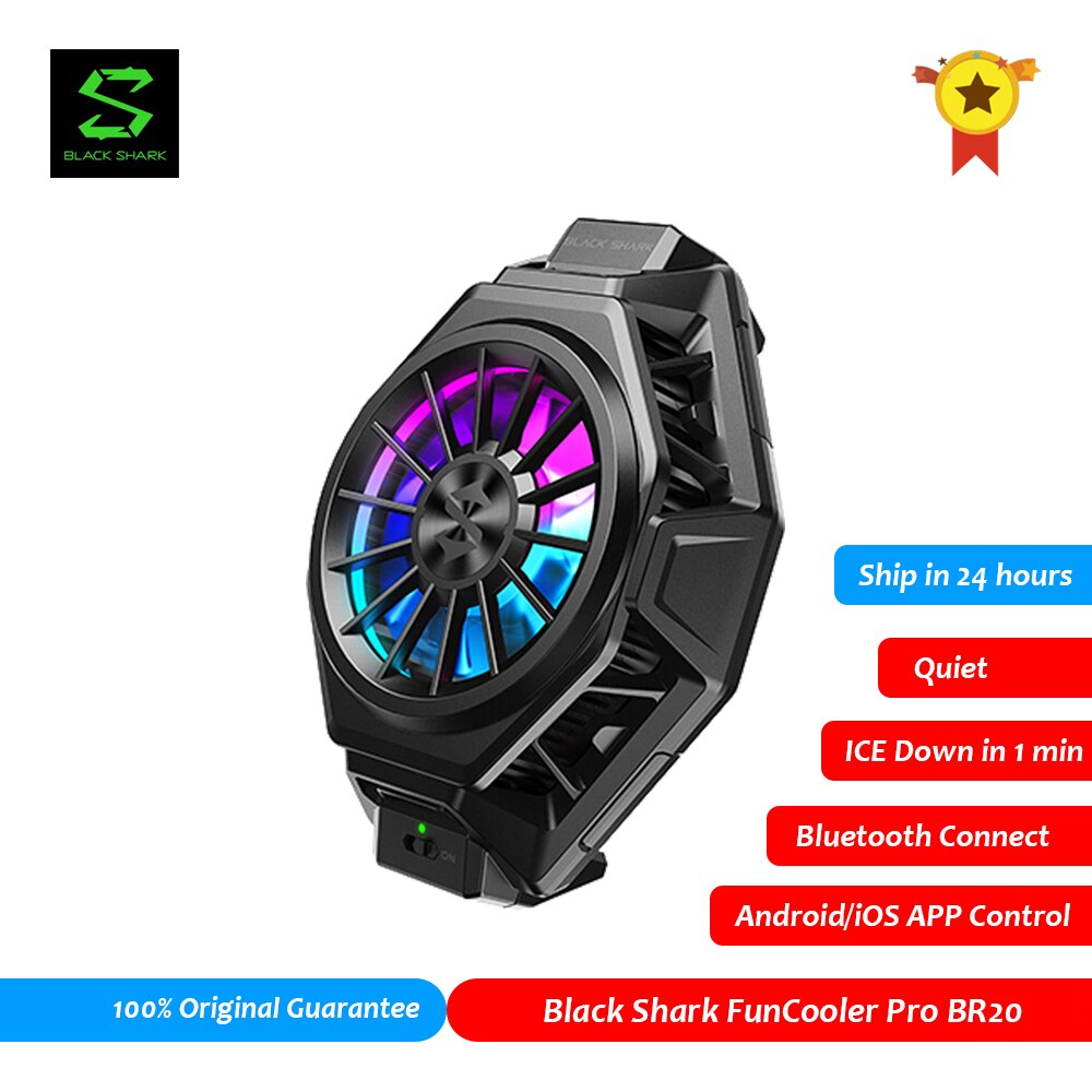 Original Black Shark 2 3 FunCooler Pro BR20 APP Control Bluetooth Mobile Phone Cooler Fan PUBG Gamer