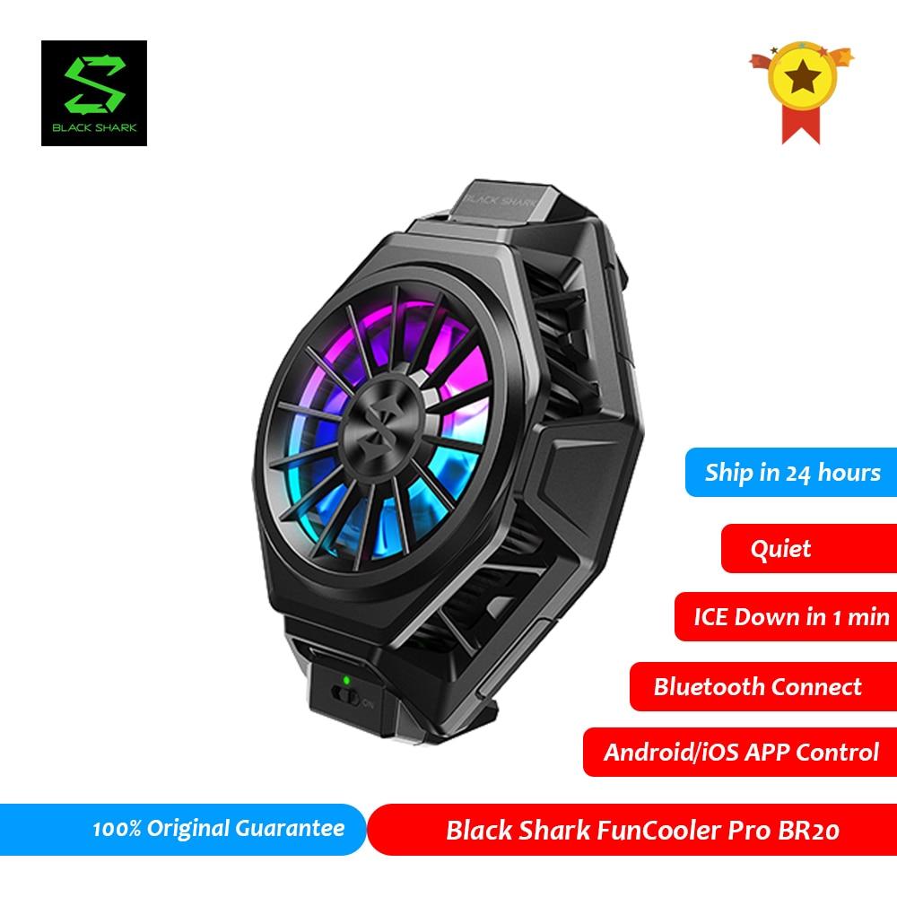 Black Shark FunCooler 2 Pro BR20 APP Control Bluetooth Fan Cooler PUBG Gamer for ROG 5 Black Shark 4 Mobile Phone Accessories