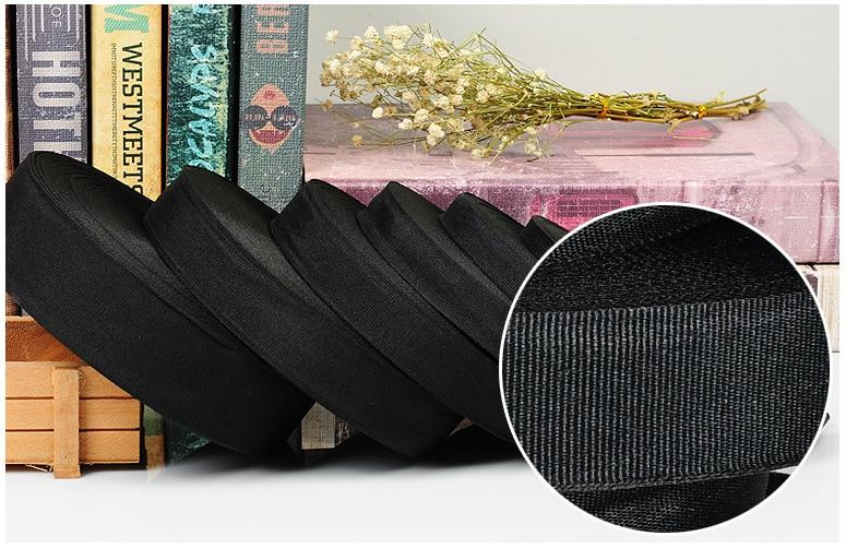 Lazo negro de Otomán, cinta con cable, lazo ruban, lazo de organza, accesorios de ropa de costura DIY, suministros para manualidades