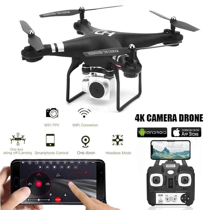 Dron Profesional 4k para niños, transmisión en tiempo Real, WiFi, altura, mantenimiento, RC, juguete para niños, gran angular, FPV, Quadcopter con cámara