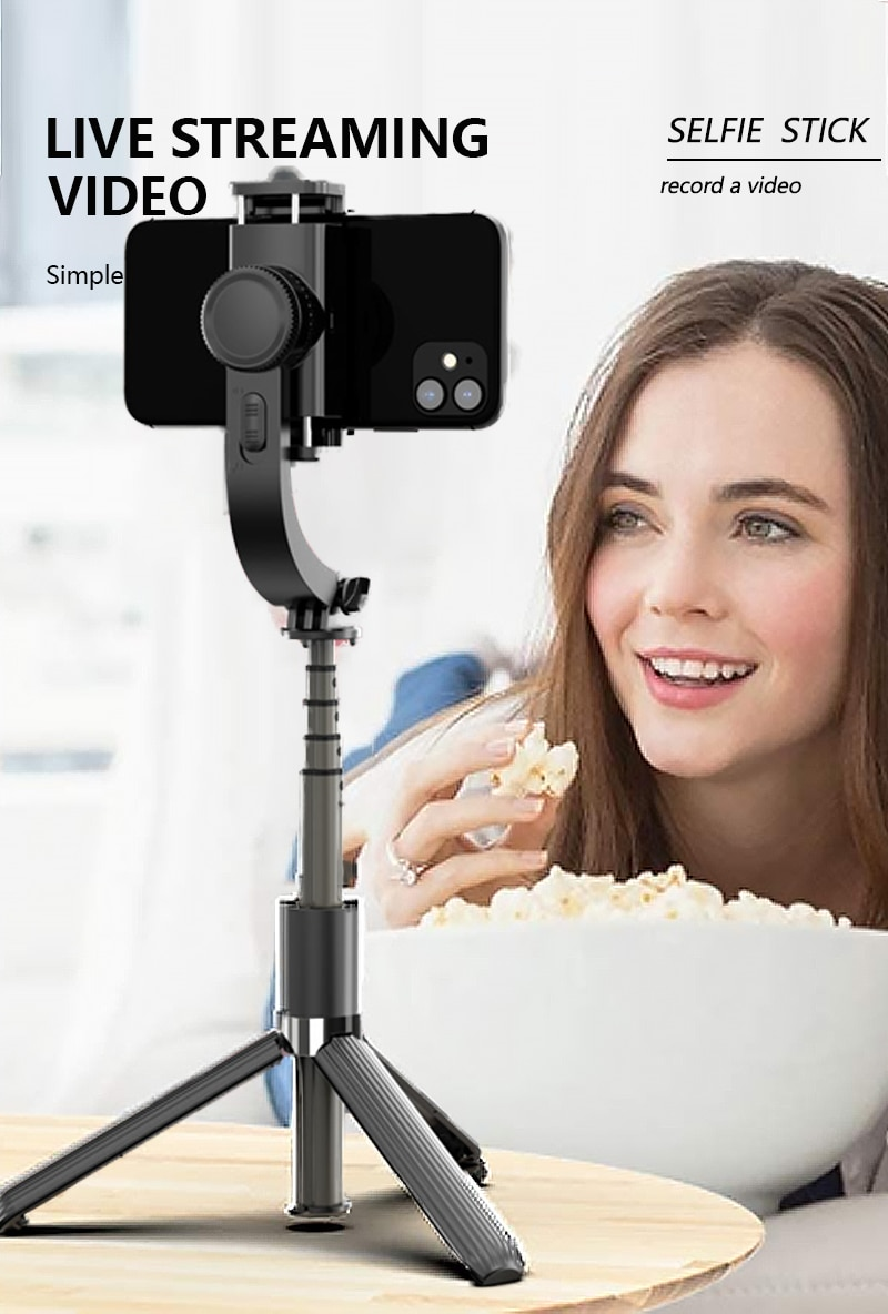 2017 new jj 1s selfie upgrade xjjj jj 1 2 axle brushless handheld phone stabilizer 330 degree smartphone gimbal holder mount Gimbal Stabilizer for Phone Automatic Balance Selfie Stick Tripod with Bluetooth Remote for Smartphone Gopro Camera