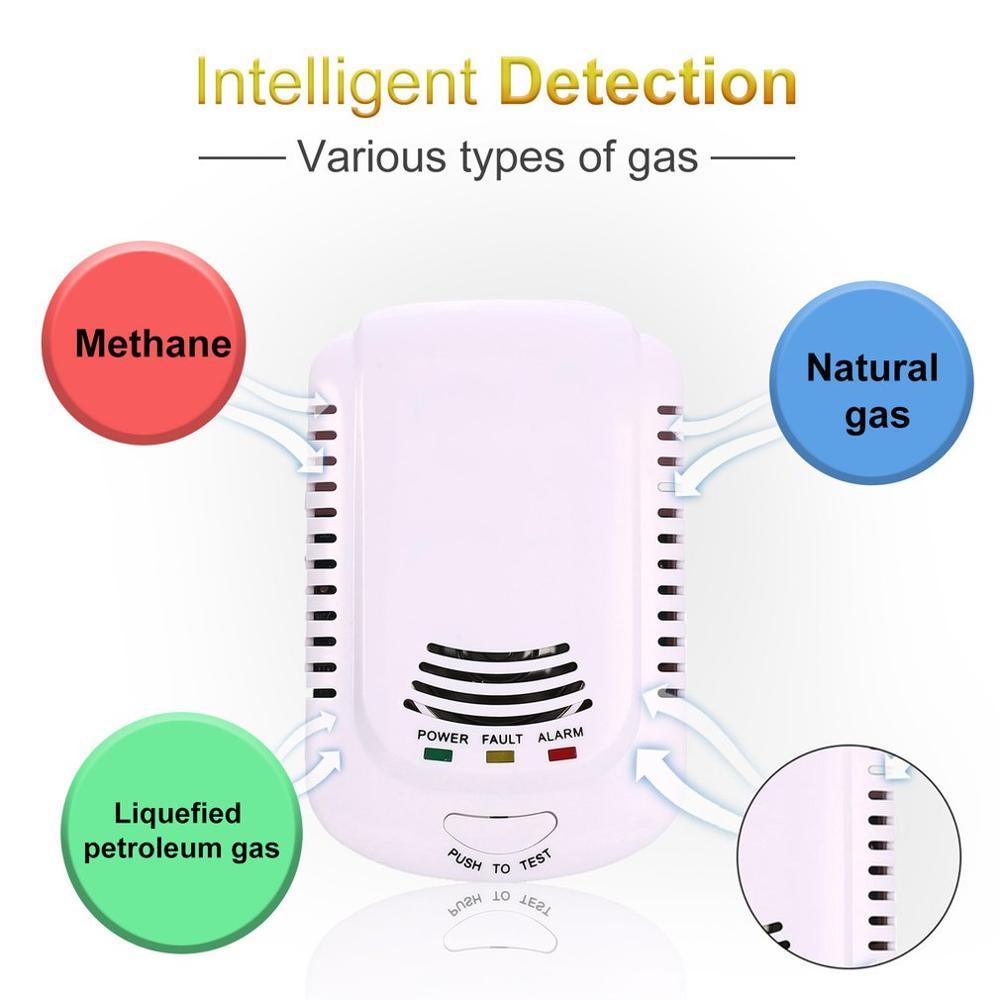 Us Plug Brandbaar Gas Detector Sensor Alarm Lpg Aardgas Analyzer Lek Bepalen Tester ACJ810 Alarm Alarmsysteem