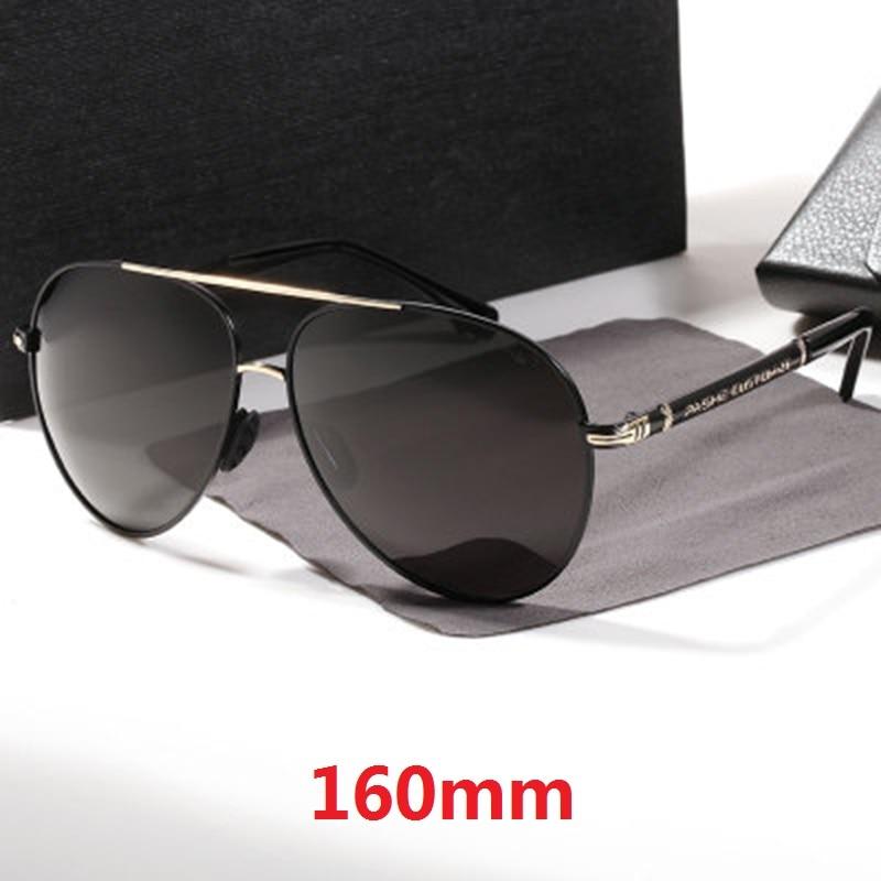 نظارات شمسية مستقطبة للرجال ، كبيرة الحجم ، 160 مللي متر ، UV400 ، للقيادة