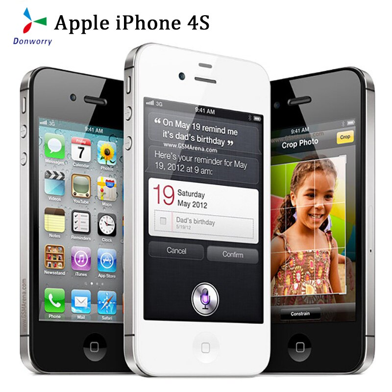 Almost New Used Apple IPhone 4s 3.5inch Screen 8/16/32/64GB Unlocked Mobile Phone Dual-Core 8MP Camera WIFI GPS
