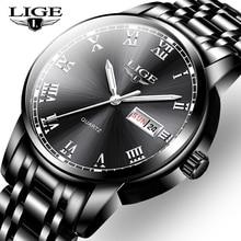 2020 LIGE Men Watch Top Luxury Brand Big Dial Sport Watches Mens waterproof Quartz Wristwatch Date Male Clock Relogio Masculino