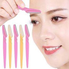 3/10pcs Eyebrow Trimmer Portable Eyebrow Razor Shaver Eye Brow Shaper Shaping Tool Scissors Facial H