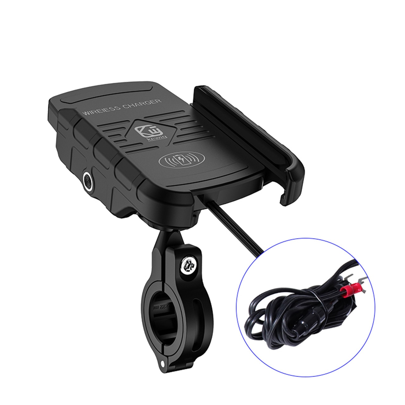 Motorcycle Wireless Charger Phone Holder Fast Charge Cell Phone Mount For Samsung iphone Motorbike ATV Mobile Smart Phone Stand