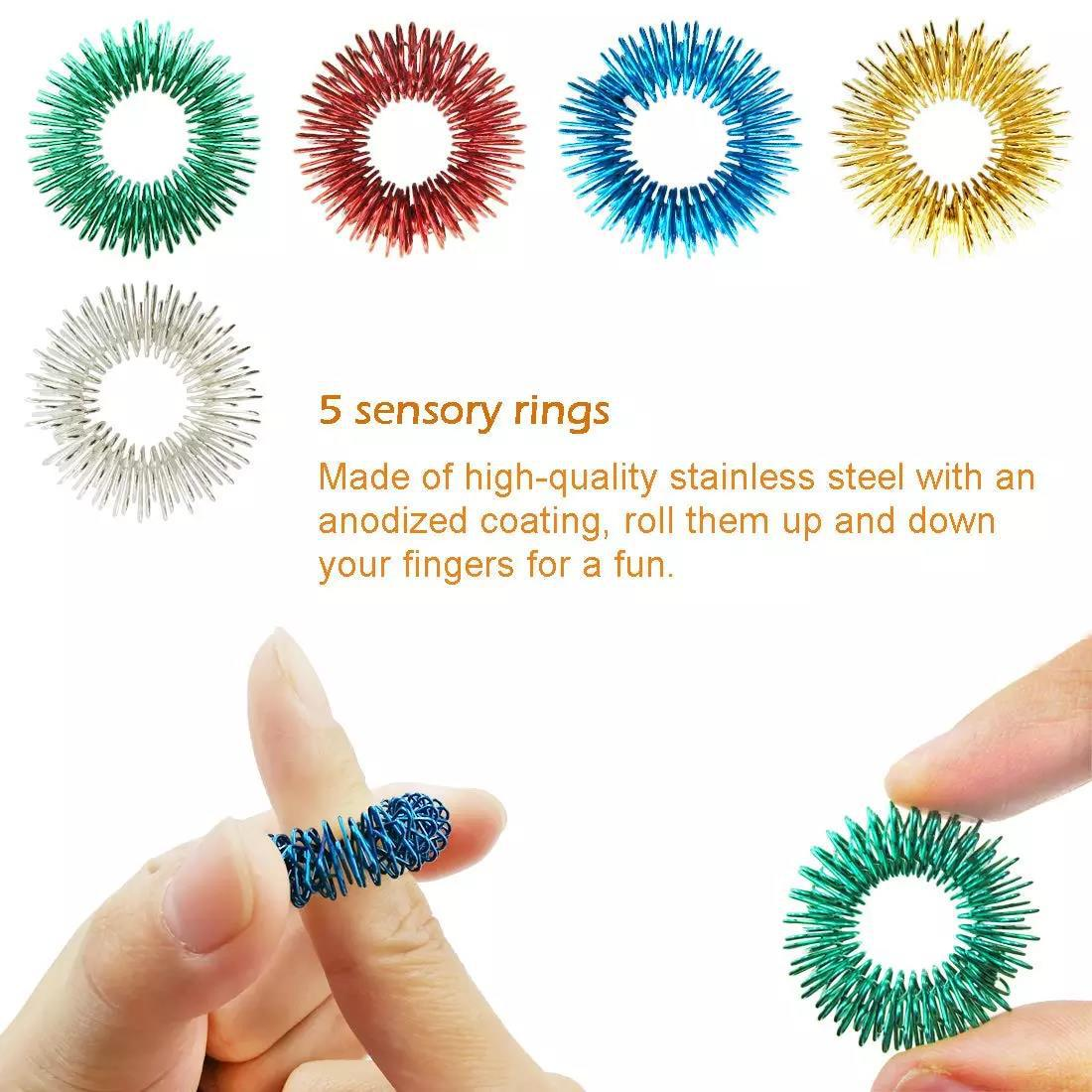 22 Pack Fidget Toys Stress Relief Toys Autism Anxiety Relief Stress Pop Bubble Fidget Sensory Decompression Toy for Kids Adults enlarge