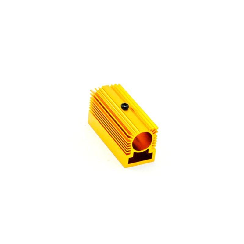 Золотой охлаждение радиатор держатель с креплением для 12 мм лазер диод модуль