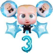 6 stks/set Boss Baby Ballon 30 inch Nummer Folie Ballonnen Kind Douche Gelukkige Verjaardag Partij Decoratie Cartoon Helium Globos