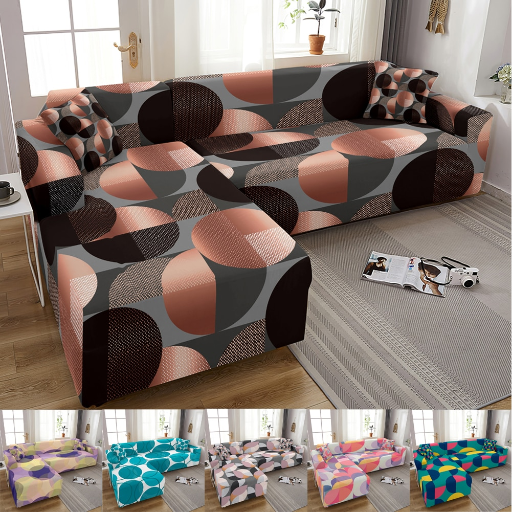 couch cover sofas covers universal stretch elastic couch covers for living room sectional corner l shape sofa cover 18 colors Elastic Sofa Cover For Living Room Adjustable Geometric Sofas Chaise Covers Lounge Sectional Couch Corner Sofa Slipcover L Shape