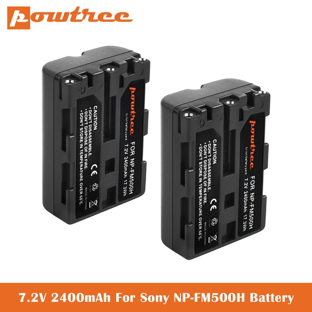 2400mAh NP-FM500H batería para Sony Alpha A900 A57 SLT-A57 A58 SLT-A58 A65...