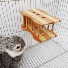 Hay Feeder Manger Bamboo Rabbit Food Feeder Rack for Guinea Pigs Chinchillas