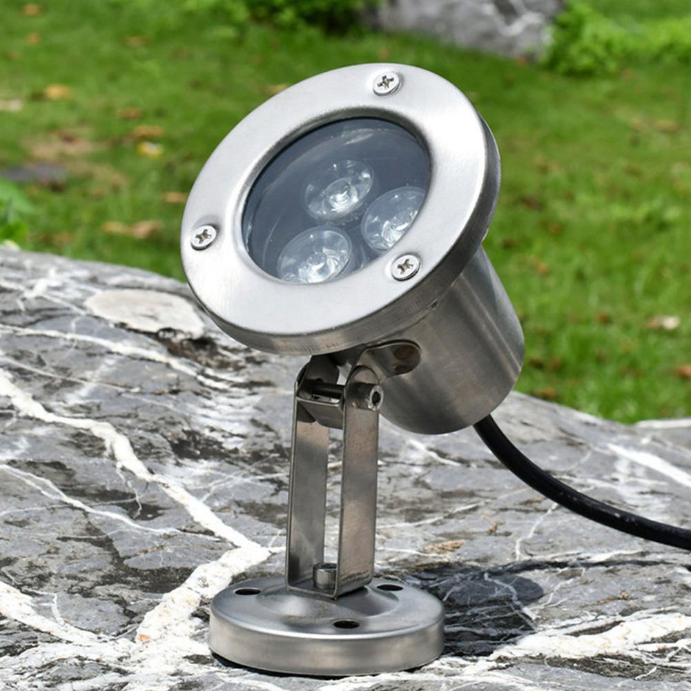 Luz LED de 3W subacuática RGB, resistente al agua, anticorrosión, reflector para fuente, acuario, piscina, 12V