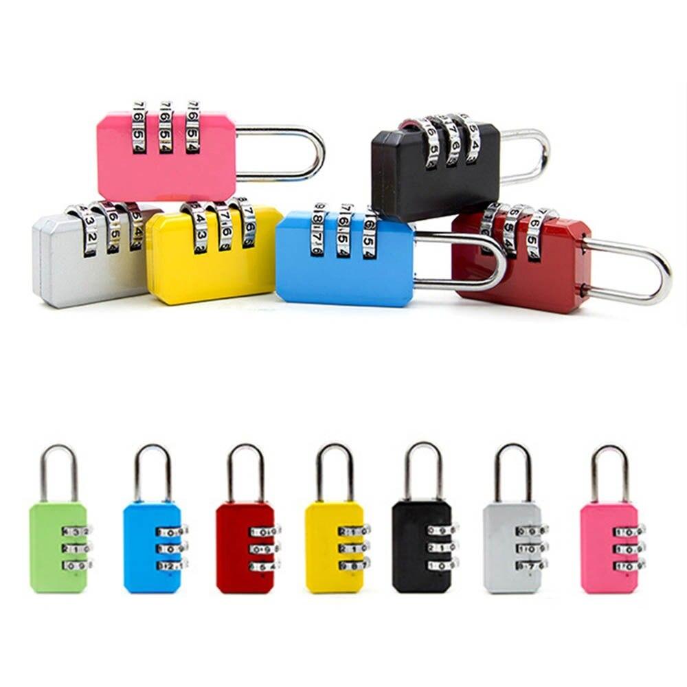Bonito 3 dígitos Dial combinación código número candado para equipaje cremallera bolsa mochila bolso maleta cajón cerraduras duraderas